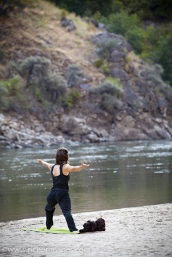 Yoga trip on the Salmon river in Idaho