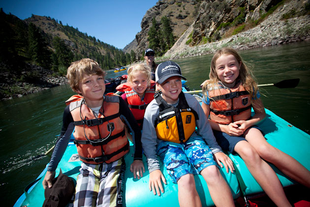 Family Rafting on Idaho's Main Fork of the Salmon River
